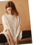 Poncho in Creme – Strickanleitung