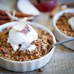 Köstlicher Apel-Birnen-Crumble